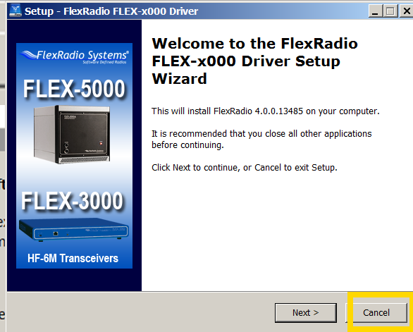 2  Install Flex Radio Systems (FRS) PowerSDR V2 4 4